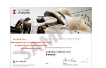 Gallery AMD Authorized Testing Center & Certificate Autodesk 1 inventor_certificate_1